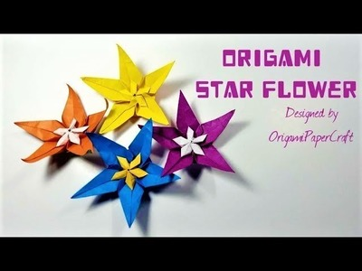 How to make an Origami Star Flower Tutorial By OrigamiPaperCraft