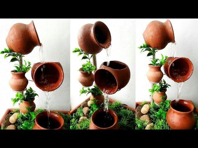 How to make beautiful terracotta fountain very easy