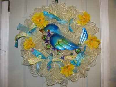 How To Make Carmen's Curly Q Style Bluebird Wreath