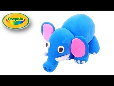 How to make Cartoon Elephant from Crayola Model Magic