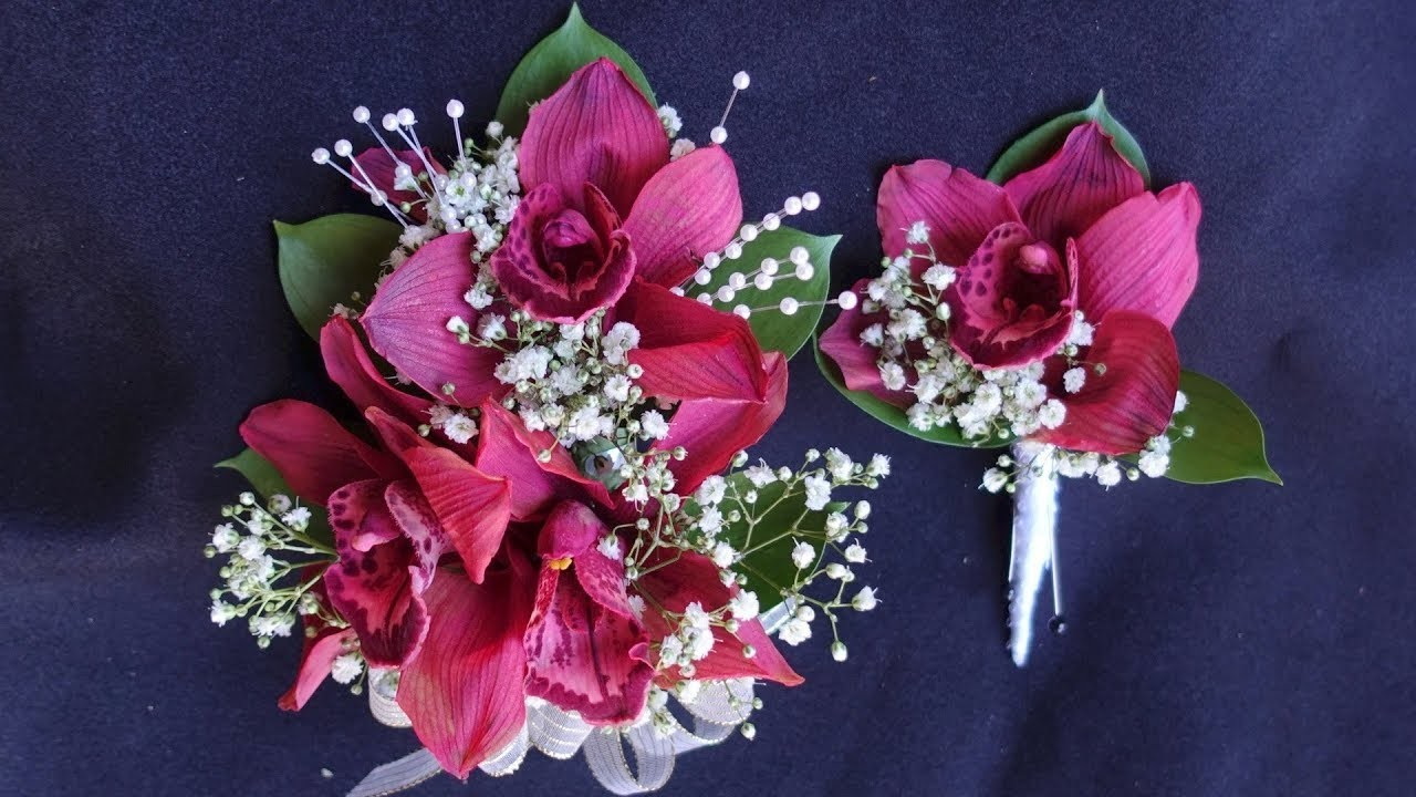 How to make corsage and boutonniere with orchids