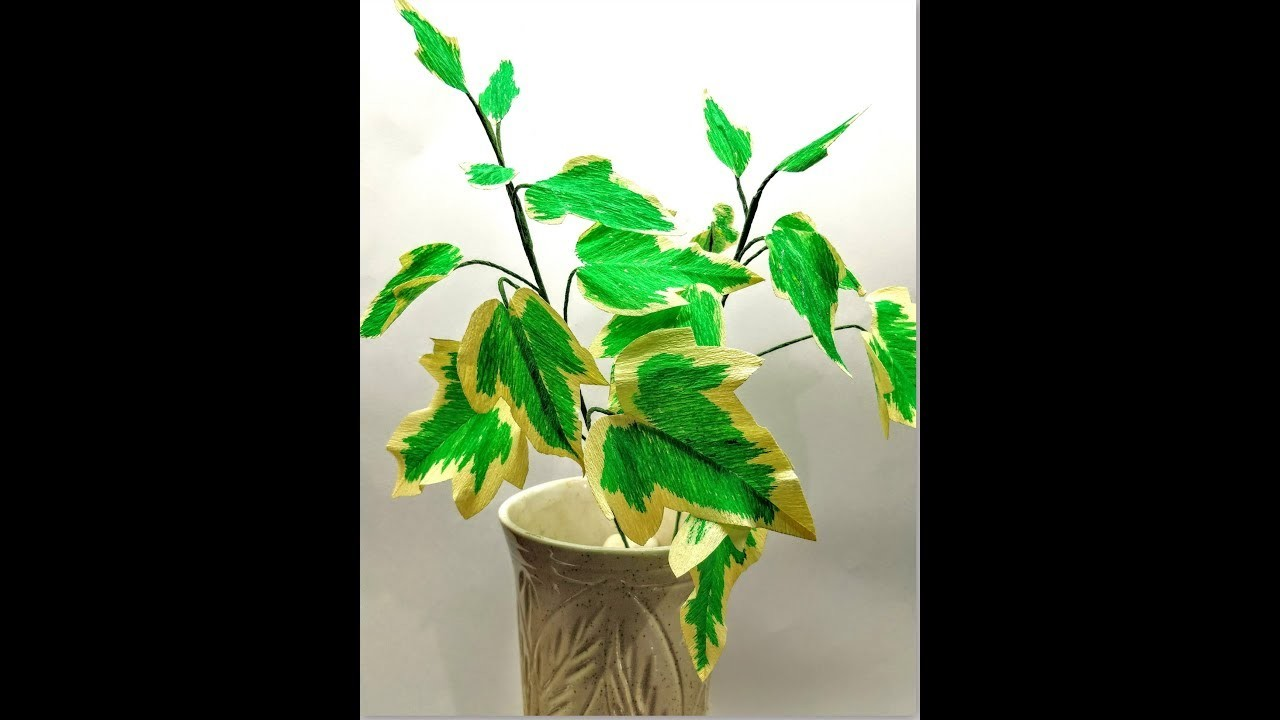 How to make Crepe Paper Ivy Leaves Variegated