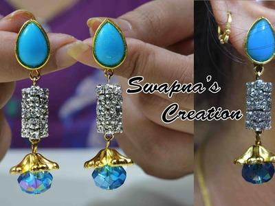 How to make designer earring   jewelry   DIY