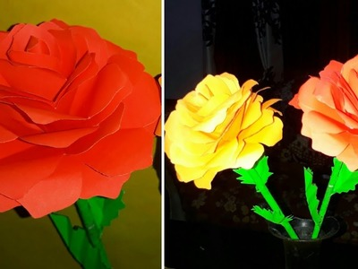 How to Make Easy,realistic and Beautiful Paper rose.How to Make real paper roses.DIY-Paper rose.