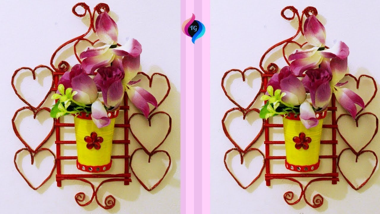How To Make Flower Vase With Waste Materials - Make Flower Vase at Home - Cool Ideas for Flower Vase