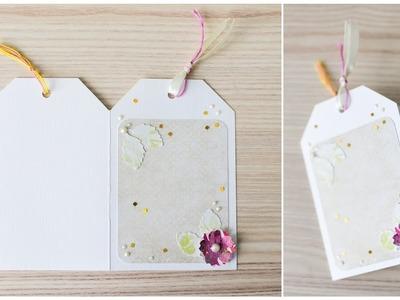 How to make : Greeting Card with a Flower | Kartka Okolicznościowa z Kwiatem - Mishellka #287 DIY