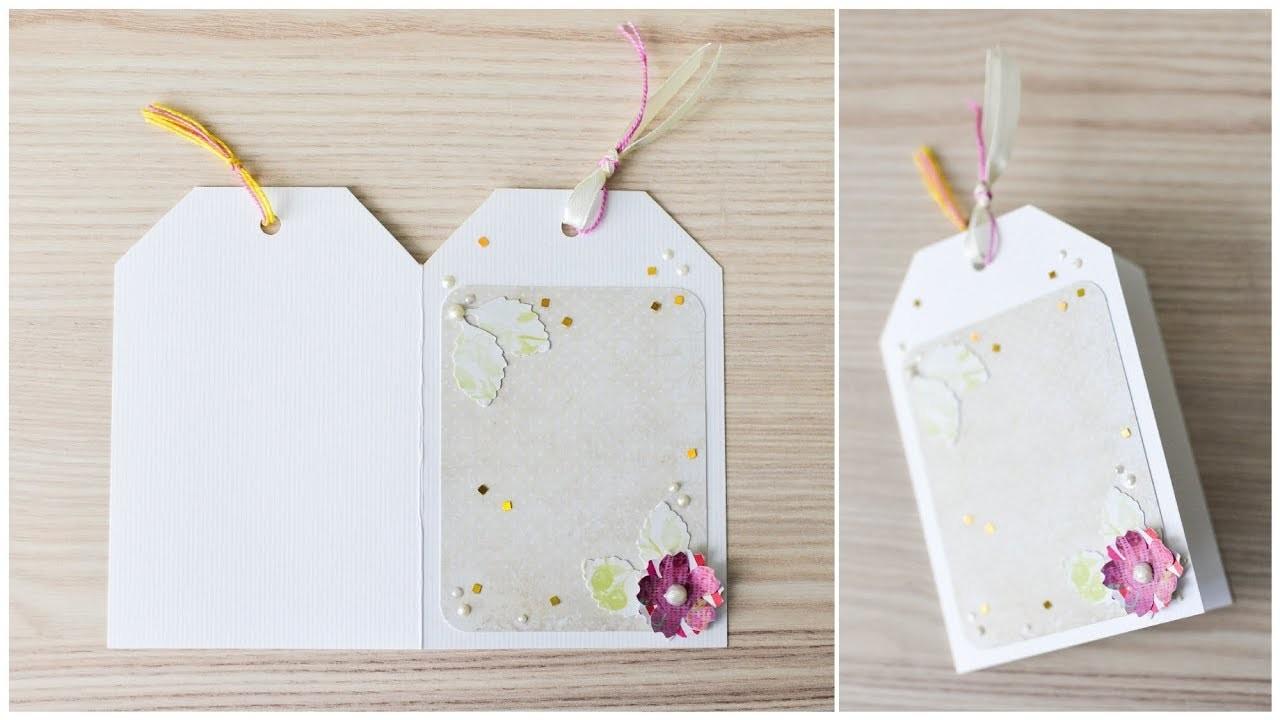 How to make : Greeting Card with a Flower   Kartka Okolicznościowa z Kwiatem - Mishellka #287 DIY