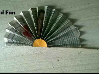How To Make Hand Fan with Newspaper l Best Out Of Waste l creative craft art [HINDI]