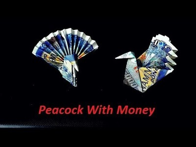 How to make money peacock origami , tutorial folding bird with paper