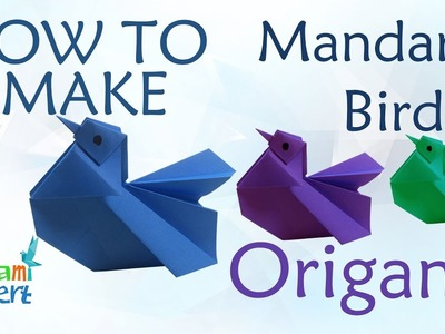 How to Make Origami Mandarin Bird - Easy instructions step by step