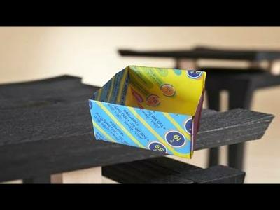 How to make paper box from poster paper without glue,kagaj ka box banane ka tarika