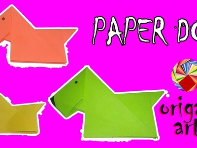 How To Make ???? PAPER DOG ????- Origami Arts