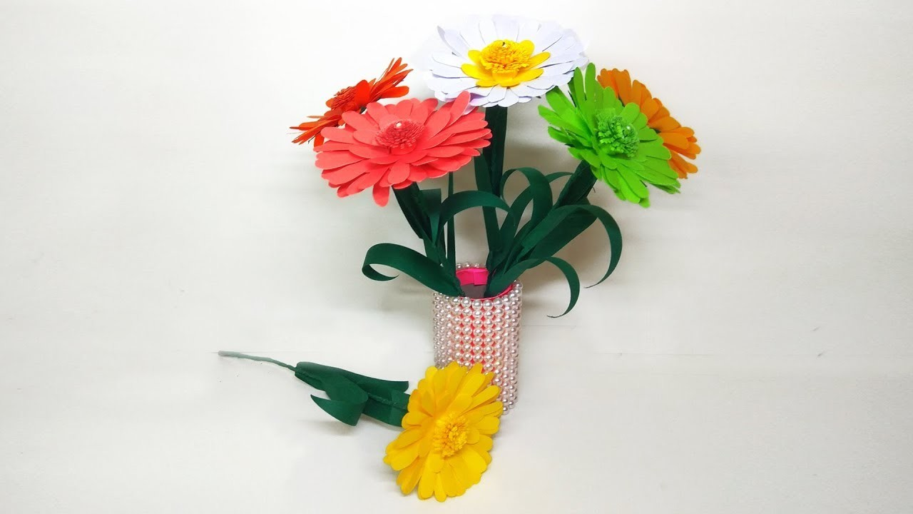 How To Make Paper Flower Easy Flowers For Kids Paper Flower