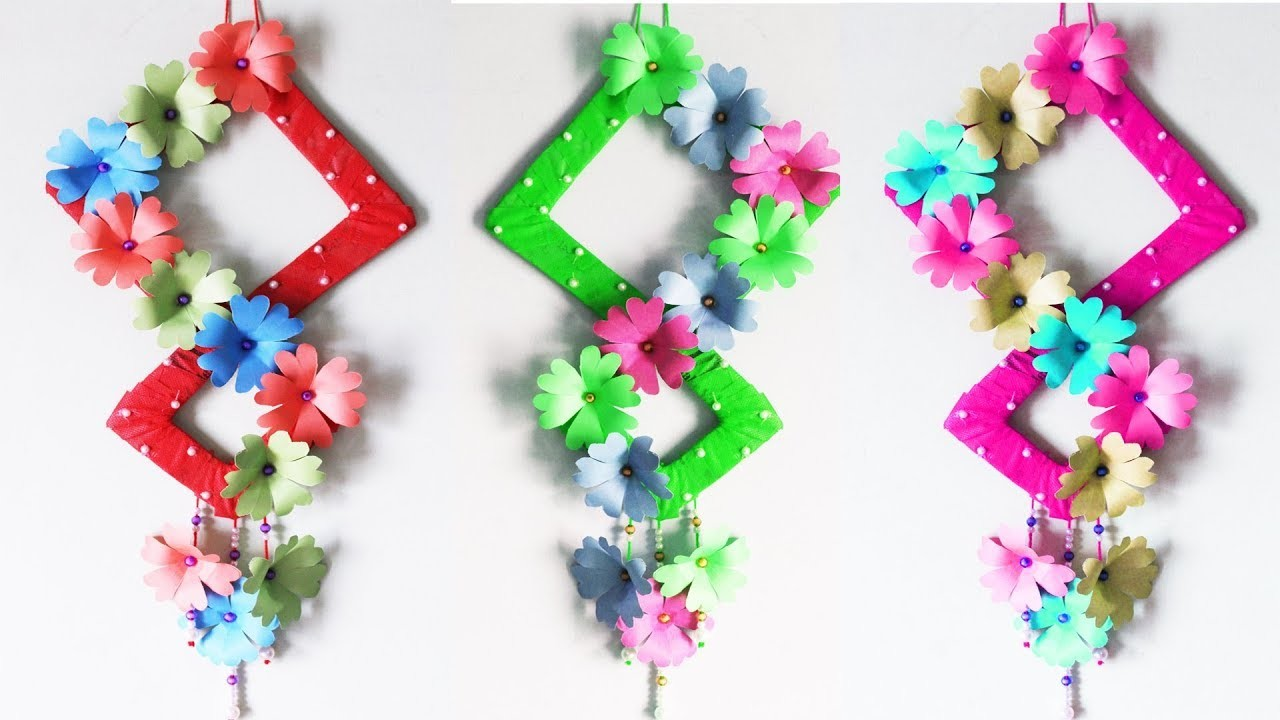 How To Make A Paper Flower Wall Hanging Flowers Healthy
