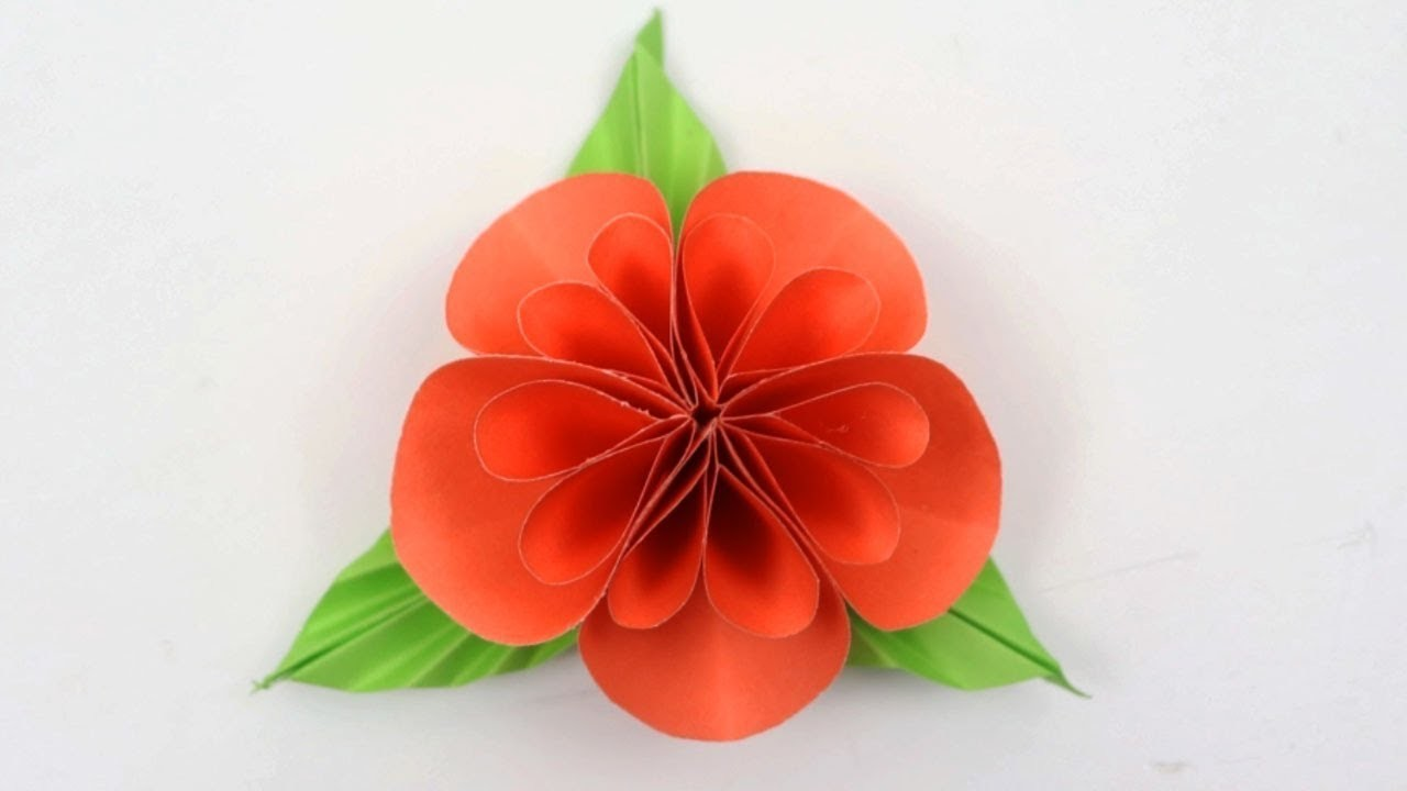How To Make Paper Flowers Very Easy Flowers Made Of Paper