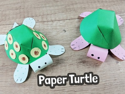 How to make paper turtle with kids