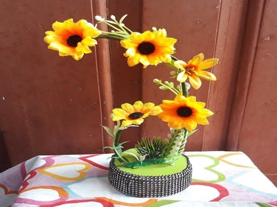 How to make showpiece from waste  material.Showpiece making at home  easy.