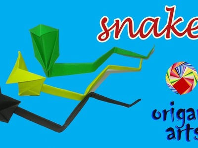 How To Make ???? SNAKE ???? - Origami Arts