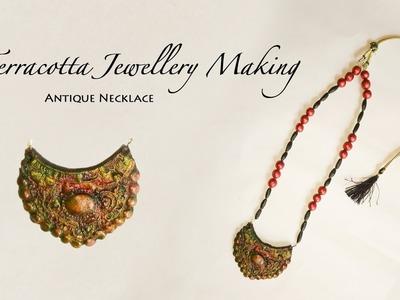 How to make terracotta jewellery. antique design. DIY