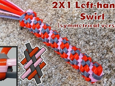 How to Make the 2x1 Left-Handed Swirl (Symmetrical Version)