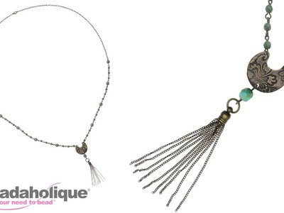 How to Make the Flora Necklace using Beaded Chain and a Chain Tassel