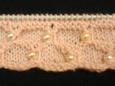 شغل الخرز مع التريكو ||1 knitting pearl and beads