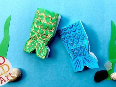 Mini Mermaid Notebook DIY - DIY School Supplies - How to make a Mini Notebook Mermaid DIY