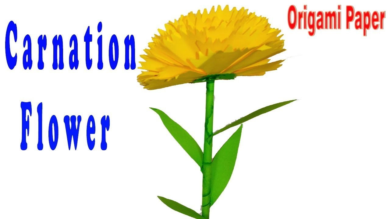 Origami paper how to make carnation flowers mightylinksfo