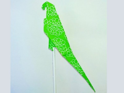 Origami paper parrot | How to make an origami parrot for kids easily?