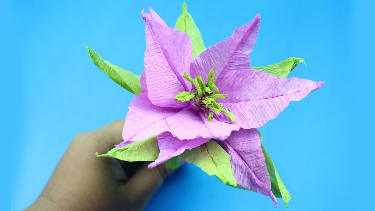 Paper Crafting With Origami Poinsettia Flower Instructions How To