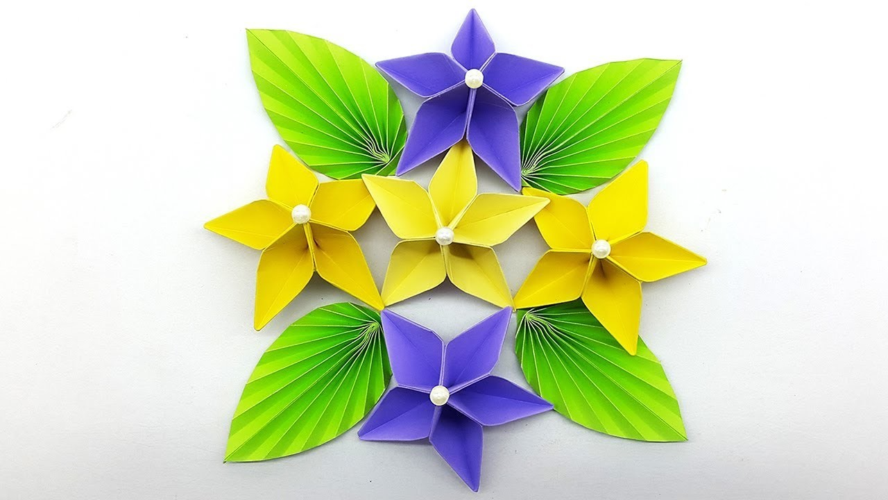 Paper Flower for Wall Decorations : How To Make Wall Hanging Flower ...