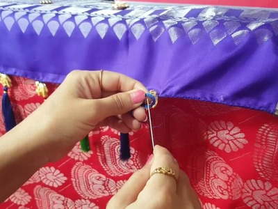 Saree kuchu making. how to make saree kuchu designs. saree kuchu with cotton tassels