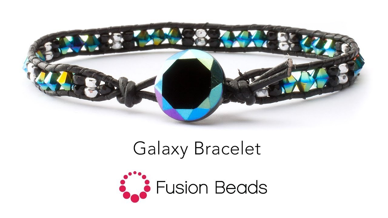 Watch how to make the Galaxy Bracelet by Fusion Beads